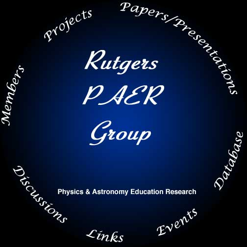 Research activities of the physics and astronomy education group