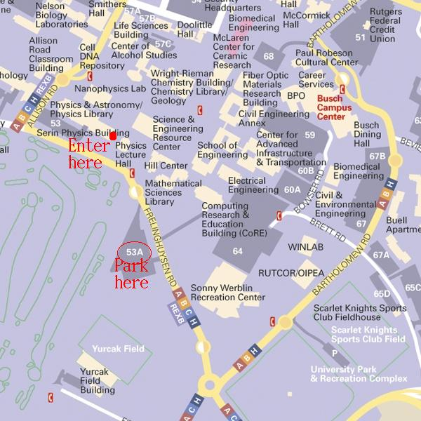 Rutgers Parking Map Rutgers Physics and Astronomy: 2007 Long Range Plan QCD Town  Rutgers Parking Map